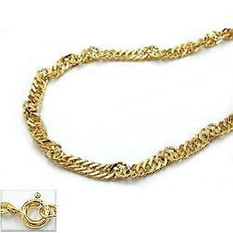 Golden bracelets Bangle Bracelet 19 cm, Singapore, 9 KT GOLD 375