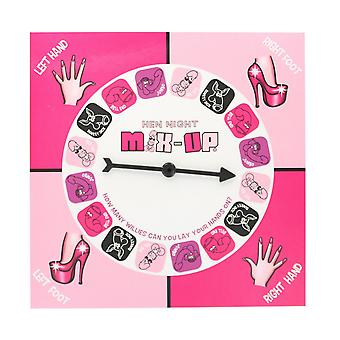 Hen Night Mix Up Hen Party Game with Play Mat & Spinner