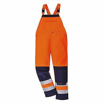 Portwest - Texo Girona Workwear Uniform kontrast Hi-Vis sikkerhet Bib & klammeparentes