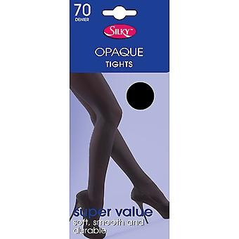 Silky Womens/Ladies Opaque 70 Denier Budget Tights (1 Pair)