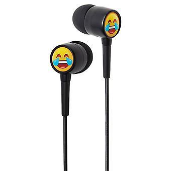 Groov-e EarMOJI barna øretelefoner ler ansiktet (Modell nr. GVEMJ22)