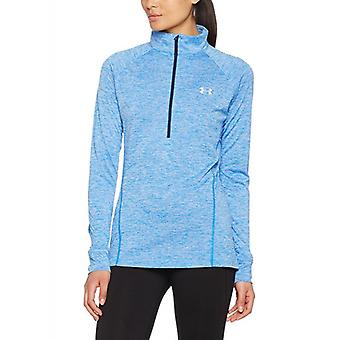Under Armour women's tech 1/2 zip long sleeve shirt 1270525-437 twist