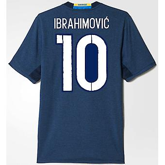 2016-2017 Sweden Away Shirt (Ibrahimovic 10)
