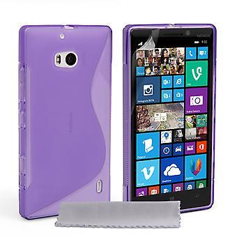 Caseflex Nokia Lumia 930 siliconen Gel S-Line Case - paars