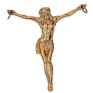 9ct Gold 56x54mm Corpus Christi figure Pendant