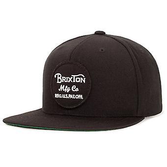 Brixton Wheeler Snapback Cap - sort