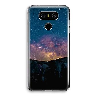 LG G6 Transparent Case - Travel to space