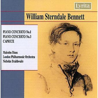 W.S. Bennett - Bennett: Piano Concertos Nos. 1 & 3; Caprice [CD] USA import