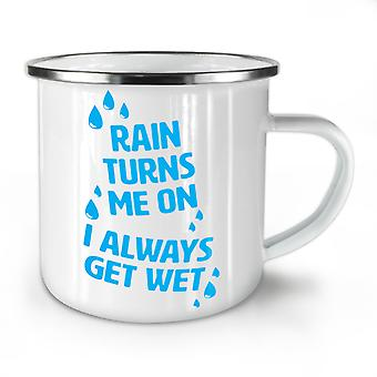 Rain Wet Dirty Joke Funny NEW WhiteTea Coffee Enamel Mug10 oz | Wellcoda