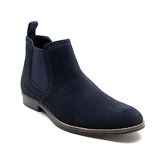 Red Tape Stockwood Navy Suede Classic Chelsea Boots