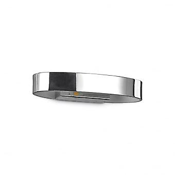 Ideal Lux Modern Zed Chrome Wall Washer Light, Oval