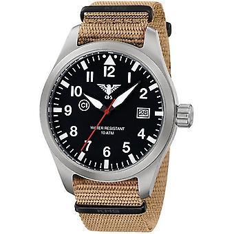 KHS horloges mens watch Airleader staal KHS. VOOR HET EERST UITGEZONDEN. NT