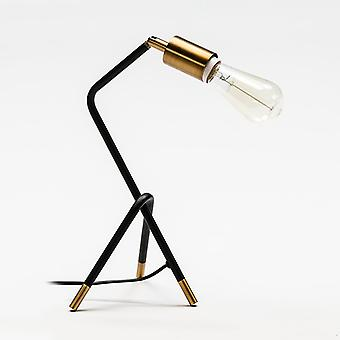 Wellindal Table Lamp 26x26x35 Metal Black and Gold With Light Bulb