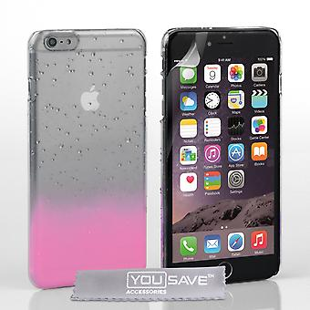 iPhone 6 Plus Raindrop Hard Case - Baby Pink-Clear