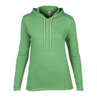 Anvil Womens Fashion Basic Long Sleeve Hooded T Shirt