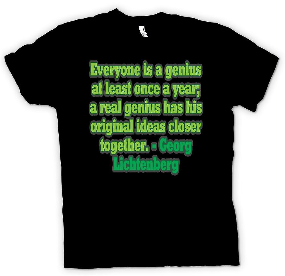 Herr T-shirt - alla är ett geni på minst en gång om året - citat