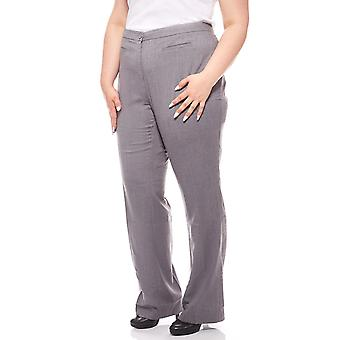 sheego pants stretch big size long grey piping
