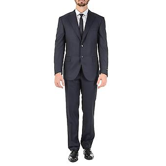 Corneliani Mens Suit Long Sleeves Dark Grey Super 120's