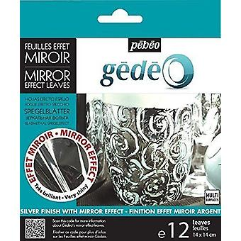 Pebeo Gedeo Mirror Effect Leaves (Silver)