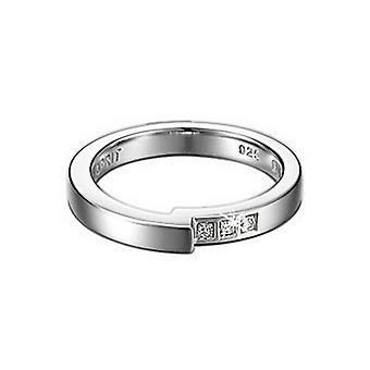 Esprit Damen Ring Silber Zirkonia Tangent ESRG91499A1