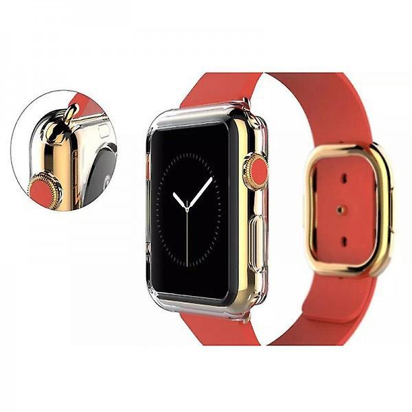 Tempered Hartglas H9 + Silikon Hülle Transparent für Apple Watch 38mm