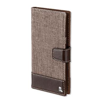 Universal protective case flip bag UltiMAG MILANO up 5.2 inch cover case Brown