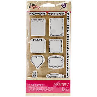 Julie Nutting Mixed Media Cling Rubber Stamps-Frames 3.5