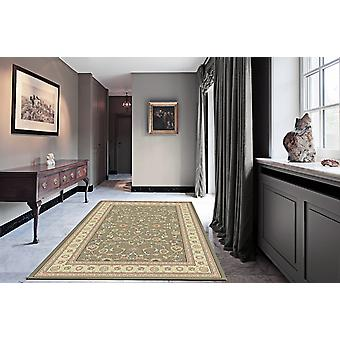 Noble Art 6529-491 grågröna centrum med guld-elfenben gränsen och viskos accenter rektangel mattor traditionella mattor
