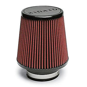 Airaid 701-450 Universal Clamp-On Air Filter: Round Tapered; 3.5 in (89 mm) Flange ID; 6 in (152 mm) Height; 6 in (152 m