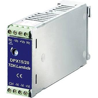 Montado en riel DPX-15-48WD-05 de TDK-Lambda Fuente de alimentación (DIN) DC/DC 5 Vdc, -5 Vdc 1.5 A 15 W 1 x