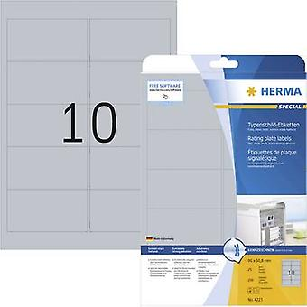 Herma 4223 Labels 96 x 50.8 mm Polyester film Silv