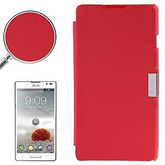 Handyhülle Tasche für LG Optimus L9 / P760 rot gebürstet