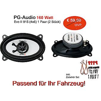 PG Audio 9 x 15 cm 2-way coaxial speaker, 4 x 6 inch, 160 watts, 1 pair B ware