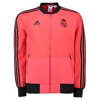 2018-2019 Real Madrid Adidas UCL Presentation Jacket (Red)