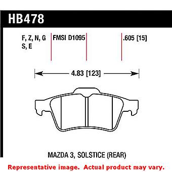 Hawk 'Performance Street' Brake Pads HB478N.605 Fits:CHEVROLET 2007 - 2007 COBA