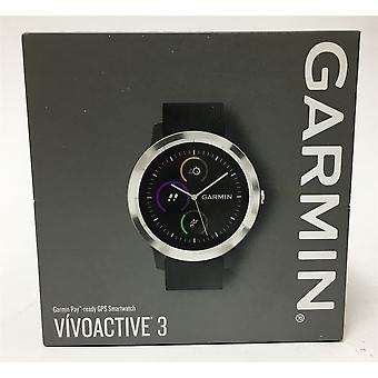 Garmin Vivoactive 3 GPS Smart Watch - Black Steel