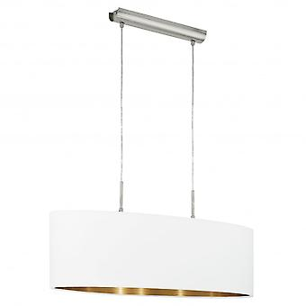 Eglo Pasteri 750mm White Island Shade Pendant With Gold Lining