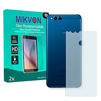 Honor 7X reverse Screen Protector - Mikvon Clear (Retail Package with accessories) (intentionally smaller than the display due to its curved surface)