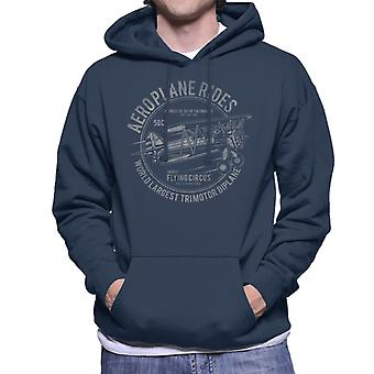 Aeroplane Rides Retro Logo Men's Hooded Sweatshirt