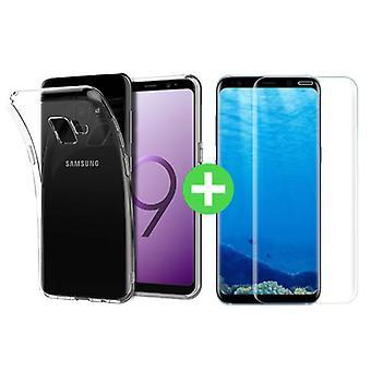 Материал сертифицирован® S9 Samsung Галактика плюс ясно ТПУ случае + экран протектор закаленное стекло