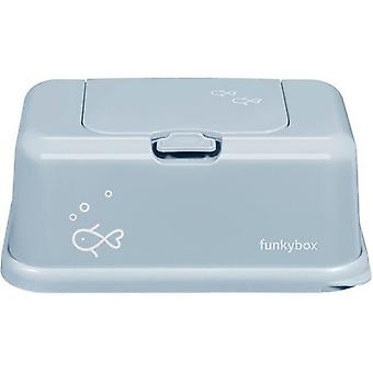 Funkybox Caja para Toallitas Grande Azul Peces (Childhood , Diaper and changers , Wipes )