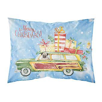 Merry Christmas Pug Fabric Standard Pillowcase