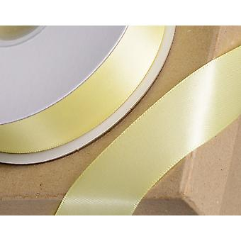 23mm Yellow Satin Ribbon for Crafts - 25m   Ribbons & Bows for Crafts