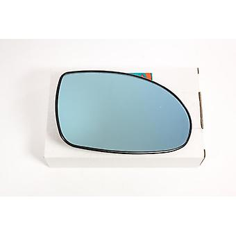 Right Blue Mirror Glass (heated) & Holder for Citroen C5 2001-2004
