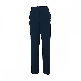 Crea Concept Blue Straight Leg Woven Trousers