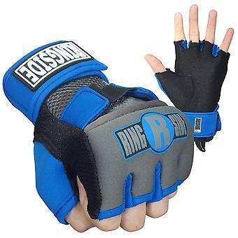 Ringside Gel Shock Boxing Glove Wraps - Blue/Black