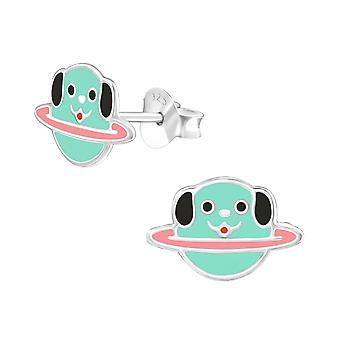 Planet Dog - 925 Sterling Silber farbige Ohrstecker - W36937x