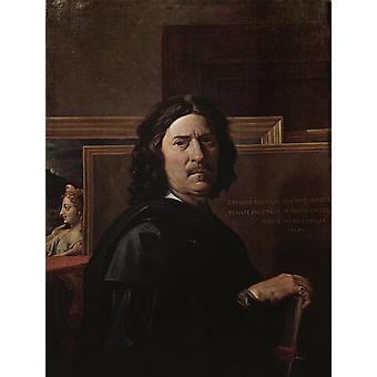 Self-portrait, Nicolas Poussin, 50x40cm