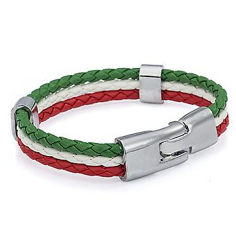 Braided Italian Tricolour Unisex Wrist Bracelet for National Celebrations - By TRIXES