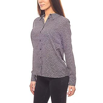 CORLEY dotted ladies blouse/black